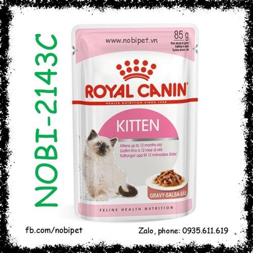 Royal Canin Kitten Instinctive Gravy 85g Thức Ăn Pate Viên Cho Mèo Con