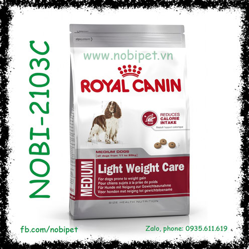 Royal Canin Medium Light Weightcare 3kg Thức Ăn Kiểm Soát Cân Nặng