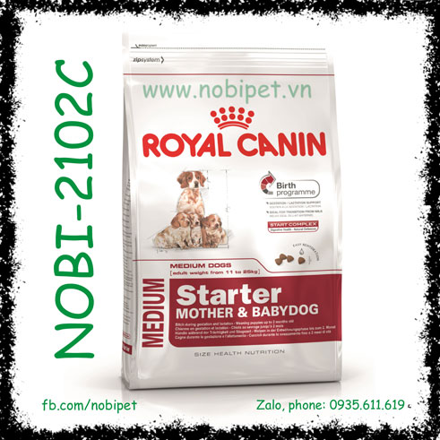 Royal Canin Medium Starter Mother & Babydog 1kg Cho Chó Mẹ - Con Size Trung