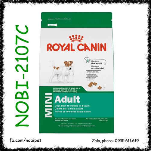 Royal Canin Mini Adult 800gr Thức Ăn Cho Chó Trên 10 Tháng Size Nhỏ