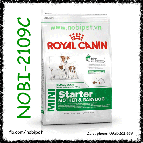 Royal Canin Mini Starter Mother & Babydog 1kg Chó Mẹ - Con Size Nhỏ