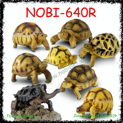 Rùa Sulcata Mô Hình Trang Trí Chuồng Nuôi Bò Sát Nobi-640R