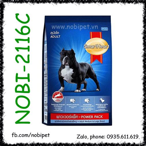 SmartHeart Adult Power Pack 1kg Thức Ăn Chó Trên 12 Tháng Dòng Cơ Bắp