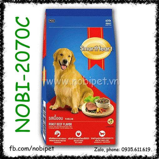 SmartHeart Adult Roast Beef 400gr - Thức Ăn Cho Chó Lớn Vị Thịt Bò Nobi-2070C