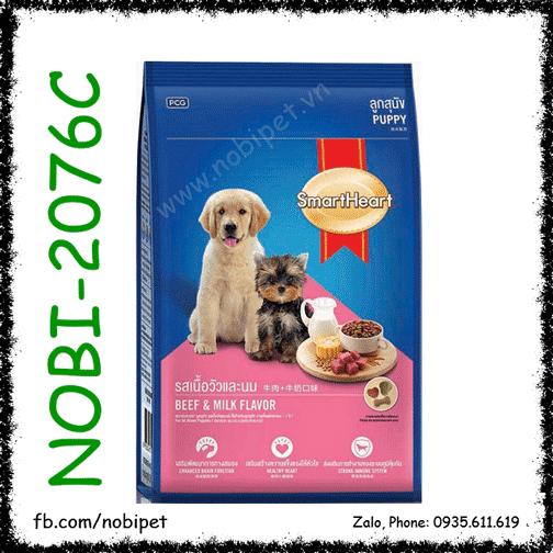 SmartHeart Puppy 400gr Thức Ăn Cho Chó Con Vị Bò Và Sữa NOBI-2076C