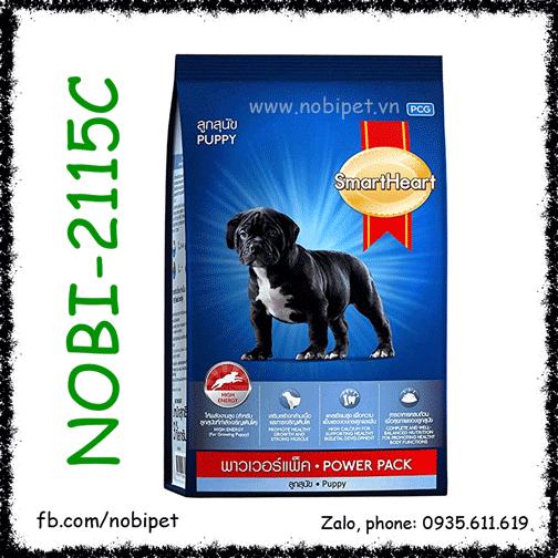 SmartHeart Puppy Power Pack 1kg Thức Ăn Cho Chó Con Dòng Cơ Bắp