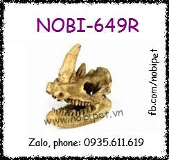 Sọ Khủng Long Tê Giác 1 Sừng Trang Trí Chuồng Nuôi Bò Sát Nobi-649R