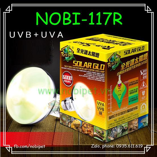 Solar Glo Đèn Sưởi Mặt Trời Tia UVA UVB Cho Bò Sát Nobi-117R