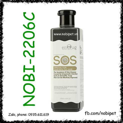 SOS Black 530ml Sữa Tắm Cho Chó Hỗ Trợ Viêm Ngứa Và Phục Hổi Da