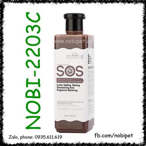 SOS Red & Brown 530ml Sữa Tắm Cho Chó Poodle Lông Nâu Đỏ Nobi-2203C