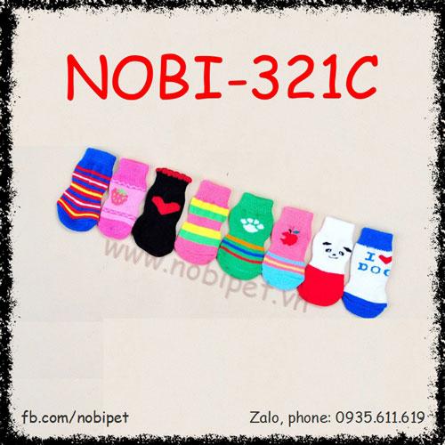 Tất Mang Chân Honey Cho Chó Nhiều Màu Nobi-321C