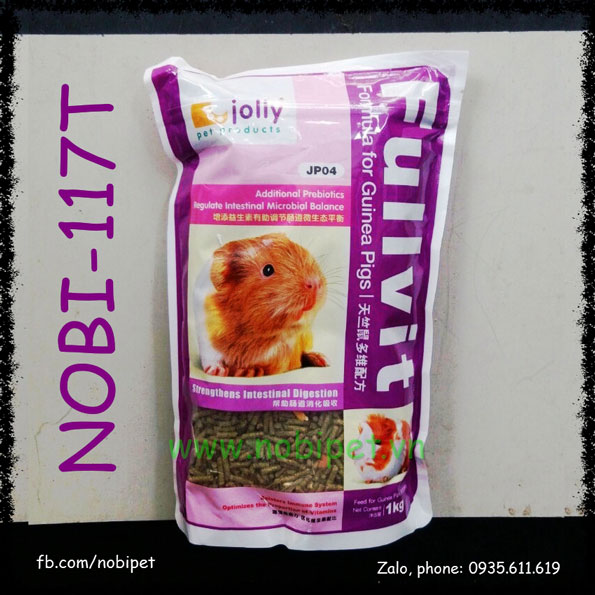 Thức Ăn Fullvita Cỏ Nén Cho Bọ Ú Guinea Pig 1kg Hãng Jolly Nobi-117T