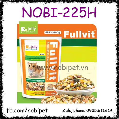 Thức Ăn Vỗ Béo 400gr Giàu Chất Sơ Cho Chuột Hamster Nobi-225H