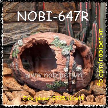Trống Đá Tiền Sử Phong Cảnh Trang Trí Chuồng Nuôi Bò Sát Nobi-647R