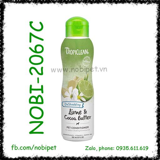 Tropiclean Lime & Cocoa Butter Dầu Xả Giảm Rụng Lông Cho Chó Mèo