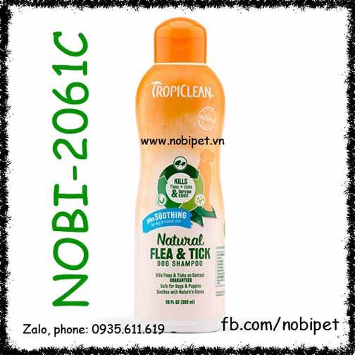 TropiClean Plus Soothing 355ml Sữa Tắm Trị Ve Rận Chó Da Khô Dị Ứng
