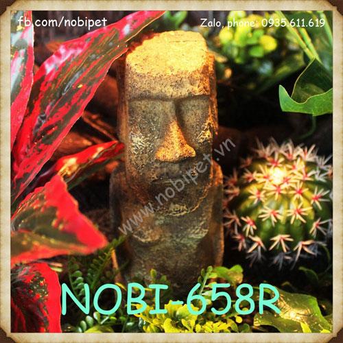 Tượng Cổ Moai Tạo Cảnh Trang Trí Chuồng Nuôi Bò Sát Nobi-658R