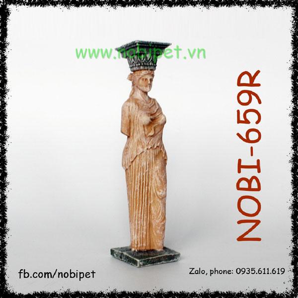 Tượng Thần Athena Hy Lạp Tạo Cảnh Chuồng Nuôi Bò Sát Nobi-659R