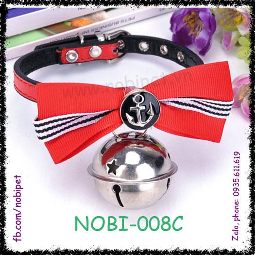 Vòng Đeo Cổ Neo Thuyền Có Nơ Chó Mèo và Chó Nhỏ Nobi-008C