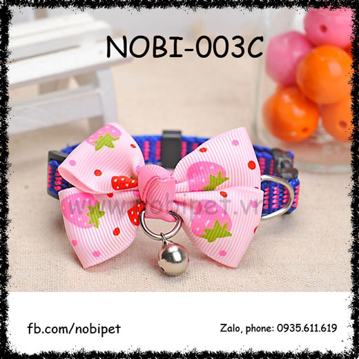 Vòng Đeo Cổ Nơ Xinh Cho Chó Nhỏ Nobi-003C