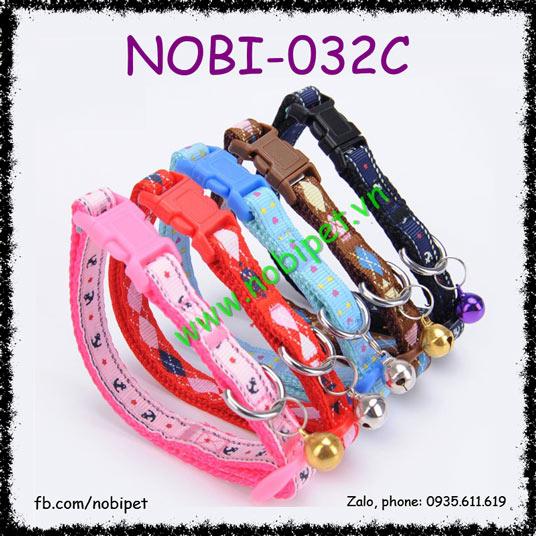 Vòng Đeo Cổ Pretty Vải Cho Chó Mèo Có Chuông Nobi-032C