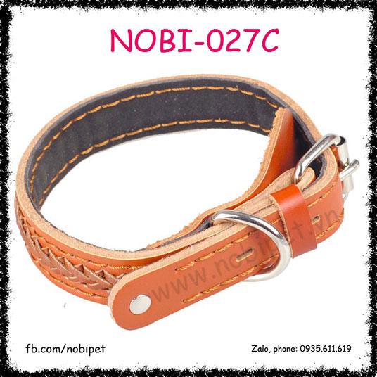 Vòng Đeo Cổ Sinbad Giả Da Cho Chó Lớn Nobi-027C