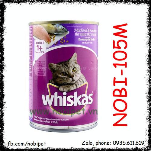 Whiskas Mackerel Sardines Pate Cho Mèo Vị Cá Thu Và Cá Mòi 400gr Nobi-105M
