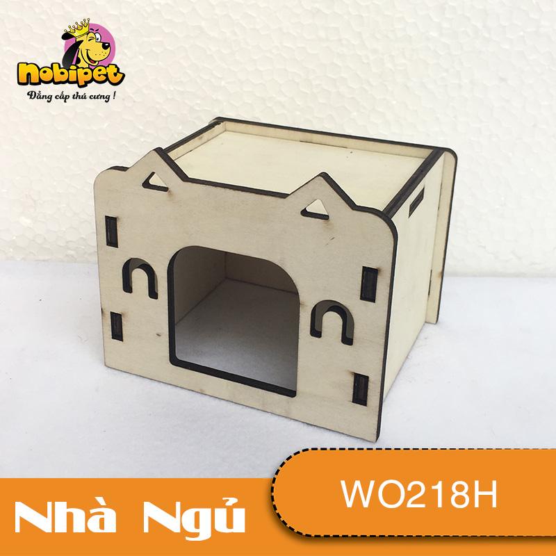 Nhà ngủ gỗ lắp ráp Nơ Xinh  WO218H