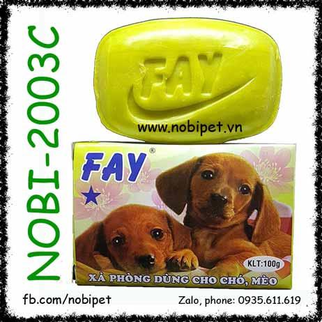 Xà Bông Fay 1 Sao 100gr Tắm Chó Thơm Lâu Phòng Ve Rận Nobi-2003C