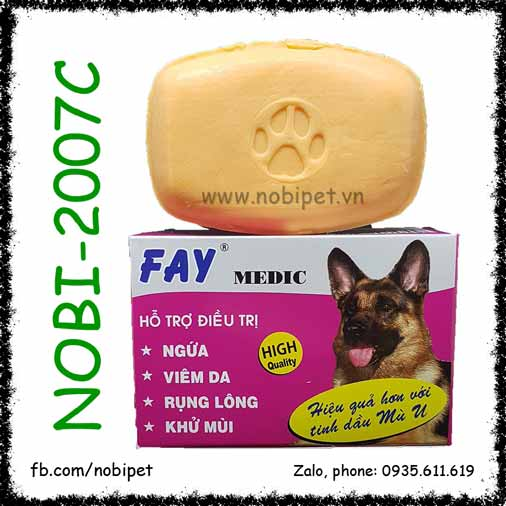 Xà Bông Fay Medic 100gr Tắm Cho Chó Mèo Hỗ Trợ Điều Trị Viêm Da