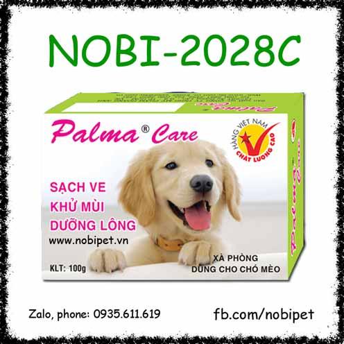 Xà Bông Palma Care Dưỡng Lông Sạch Ve Chó Mèo Nobi-2028C