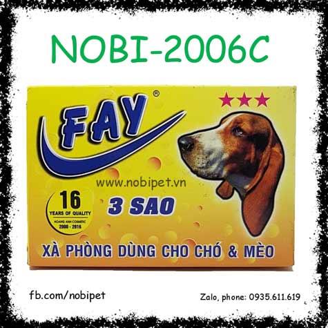 Xà Phòng Tắm Fay 3 Sao 100gr Khử Mùi - Sạch Ve - Giữ Ẩm Cho Chó Mèo