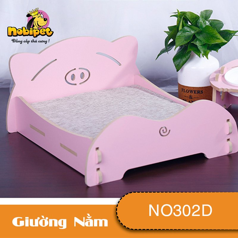 Giường Ngủ Lắp Ráp Ủn Ỉn Đa Sắc Cho Chó Mèo NO302D