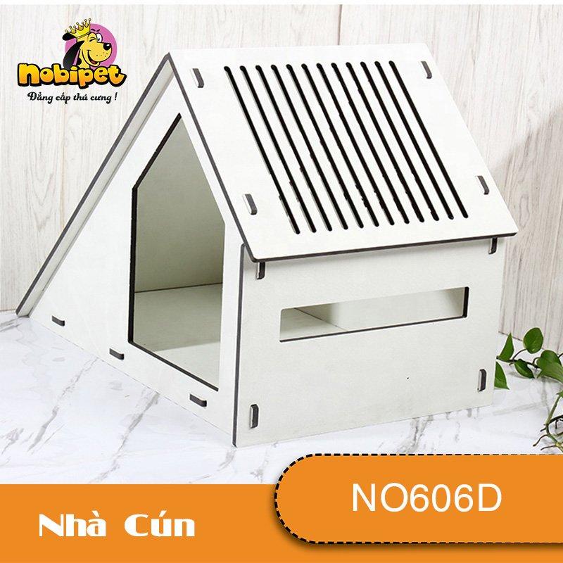 Nhà Ngủ Gỗ Lắp Ráp Lotus Cho Chó Mèo NO606D