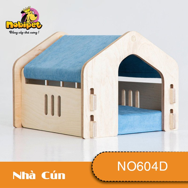 [GIÁ HỦY DIỆT] - Nhà Ngủ Gỗ Lắp Ráp Sky Cho Chó Mèo NO604D