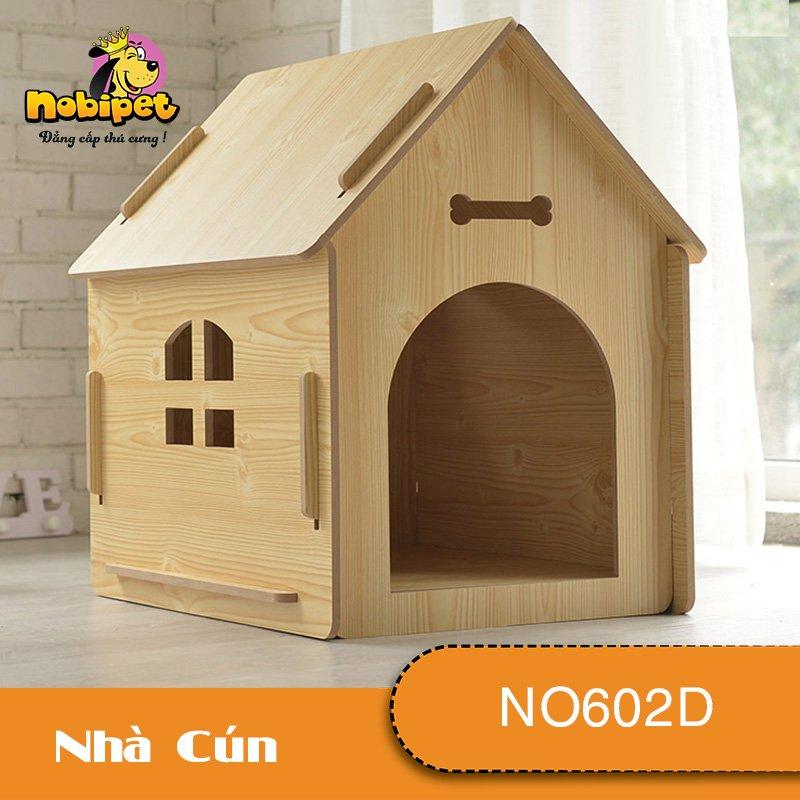 Nhà Ngủ Gỗ Lắp Ráp BigHome Cho Chó Mèo NO602D