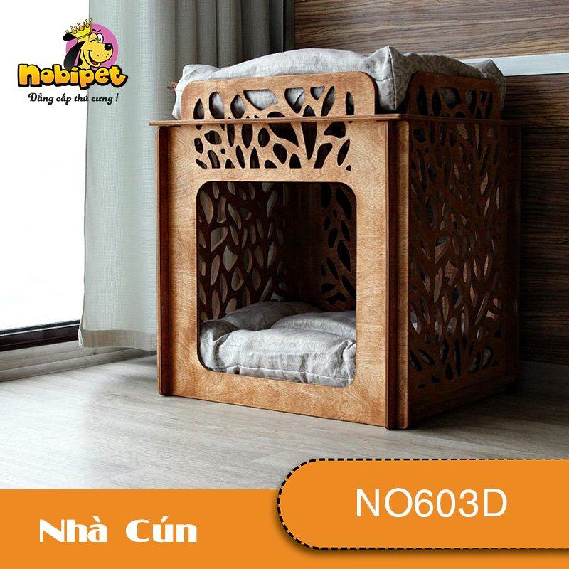 Nhà Ngủ Gỗ Lắp Ráp Morgan Cho Chó Mèo NO603D