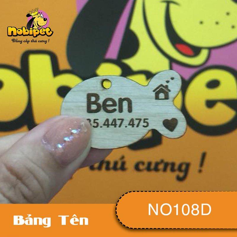 Bảng tên Con Cá Dành Cho Chó Mèo NO108D