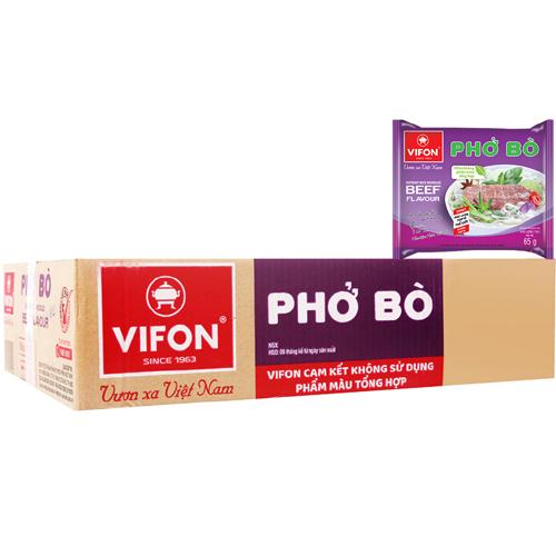 Phở bò ăn liền Vifon 65gr (30 gói/ thùng)