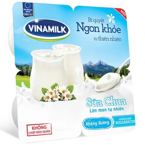 Sữa chua Vinamilk không đường 100g*4h