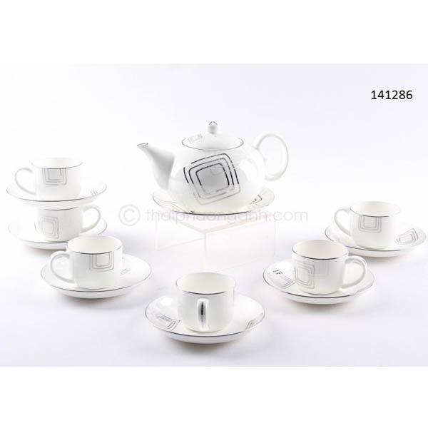 Bộ tách trà sứ xương 141286 14pcs