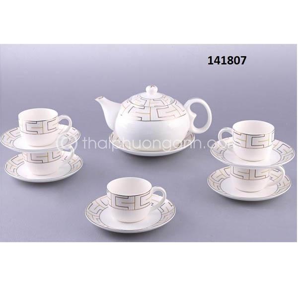 Bộ tách trà sứ xương 141807 14pcs