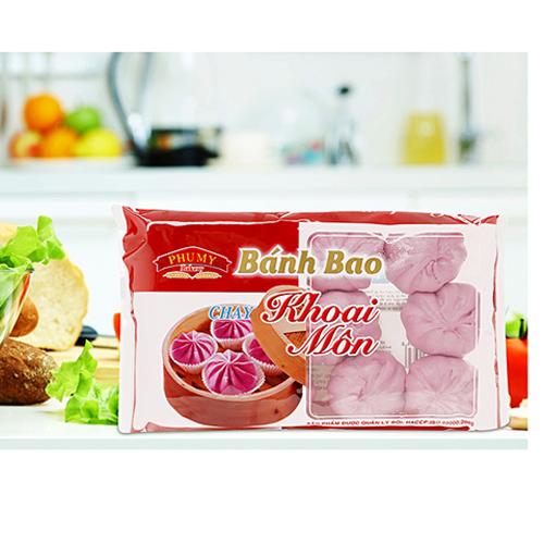 Bánh bao Phú Mỹ Khoai môn chay 200g