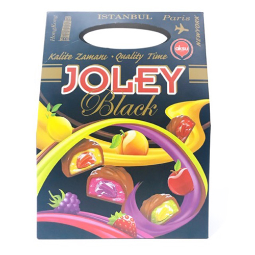 Kẹo socola nhân thạch dẻo Joley Black 250g