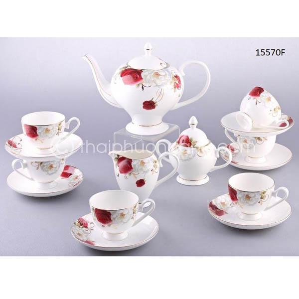 Bộ tách trà sứ xương 15570F 15pcs