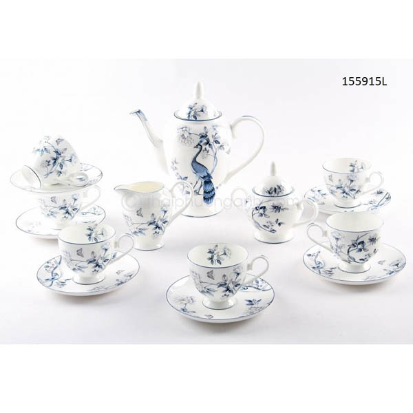 Bộ tách trà sứ xương 155915L 15pcs