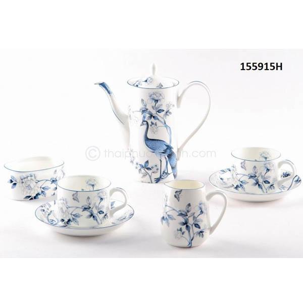 Bộ tách trà sứ xương 155915H 15pcs
