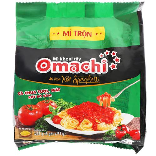 Mì khoai tây Omachi xốt Spaghetti 91g(5 gói/bịch)
