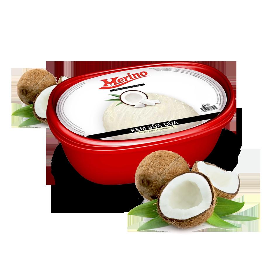 Kem Hộp Merino Sữa dừa 1L