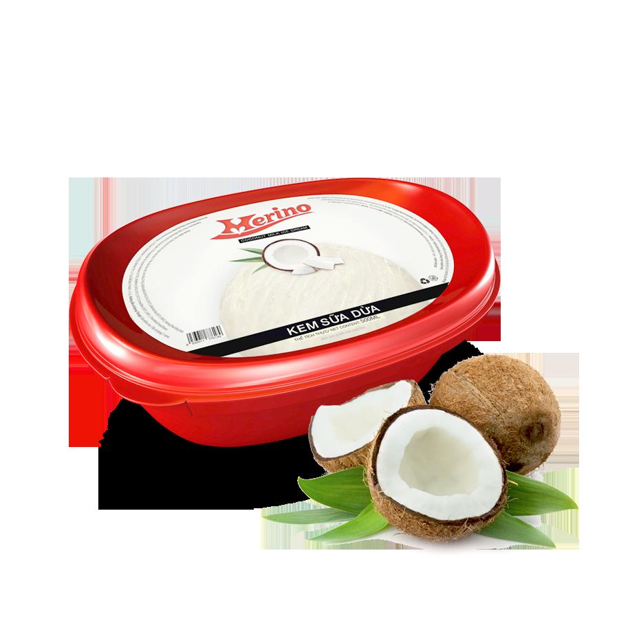 Kem Hộp Merino Sữa dừa 500g
